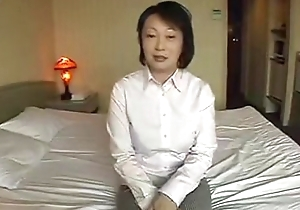 Asian mature masturbate plus be thrilled by POV action