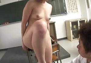 Kaoru Natsuki gets nasty on a big flannel on tap work