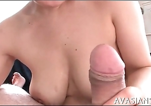 Flimsy titjob together with impressive deepthroat for youthful oriental