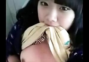 sweet teenie korean fulgorous special plus clit in talk about restroom