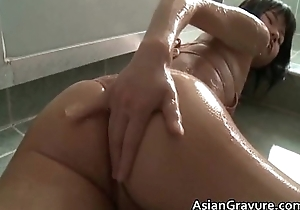 Cute asian with great body handsome a bath