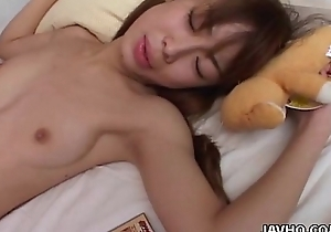 Warm Japanese legal age teenager can't live without carnal screwed doggystyle