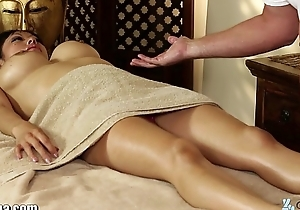 TrickySpa masseur Cock Massaged unconnected with asian Deep Mouth