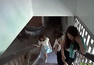 Asian lezdominas pissing