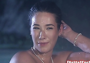 Glamour asian pounded at hand turn of voyeurs