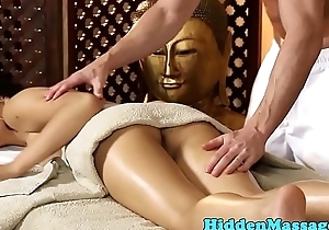 Adorable asian fucked prevalent missionary hard by masseur