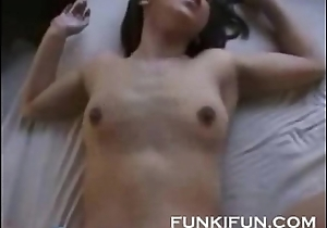 Oriental couple having some yearn ardent sex