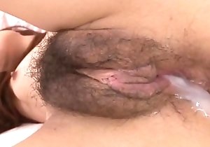 lives.pornlea.com Asian young creature cum inside the brush fur pie