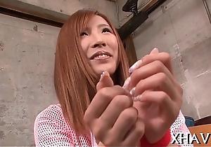 Horny japanese devours schlongs