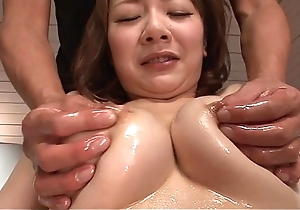 Fingers and fucks bent filled oriental